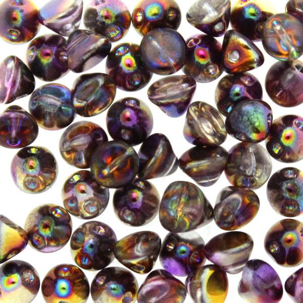 Crystal Magic Purple Button Bead 50st