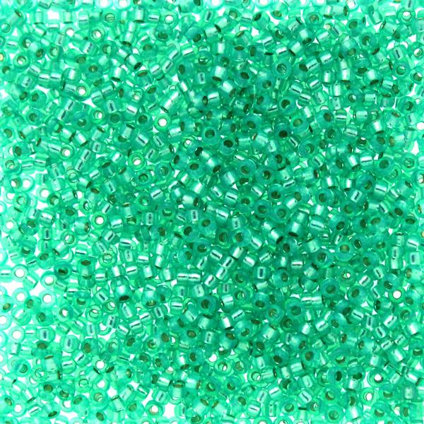 Dyed Aqua Green Silverlined Alabaster 15-0572 Miyuki 15/0 5g