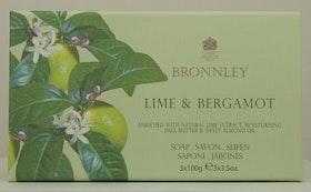 Bronnley - Lime & Bergamott  3x100g