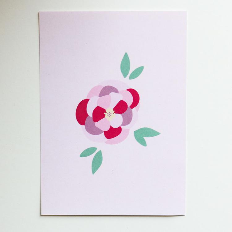 Rosa kort från Kinder Prints
