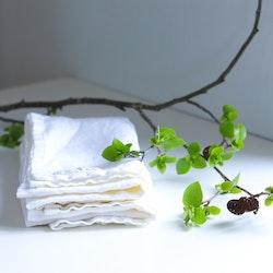 Vita kökshanddukar i ekologiskt linne