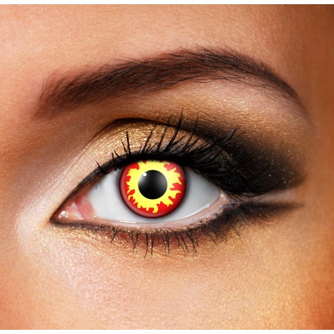 Faceloox Flame Eyes Wild Fire Crazy ett par utan styrka