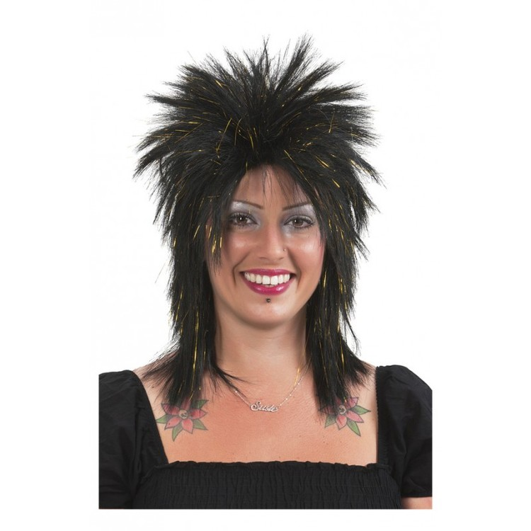 Punk Wig Black/Gold
