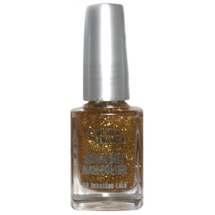 Nail polish gold glitter