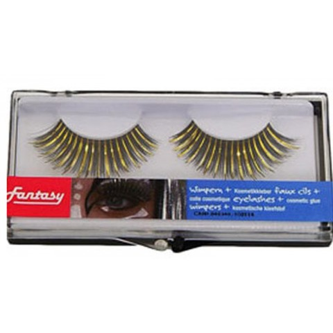 False eyelashes gold/ glitter