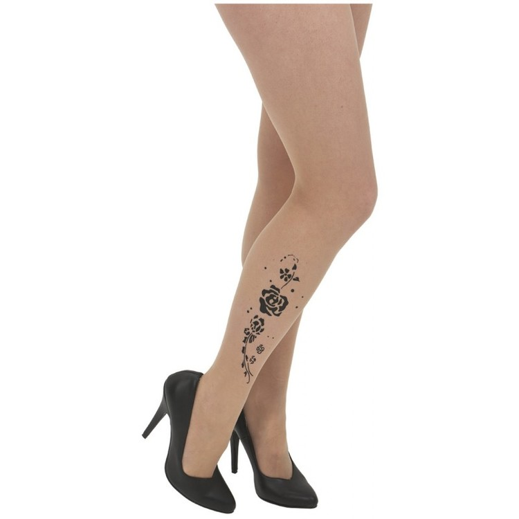 Rose Tattoo Pantyhose