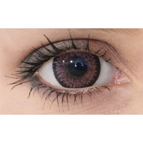 MakeLooks Circle Lenses Soft Pink Utan Styrka
