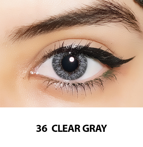 36-Faceloox Clear Grey One Day utan styrka ett par
