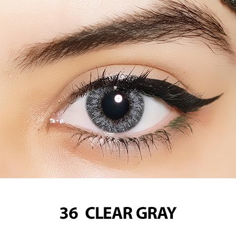 36-Faceloox Clear Grey One Day utan styrka ett par