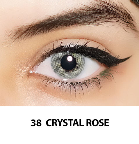 38-Faceloox Crystal Rose One Day utan styrka ett par