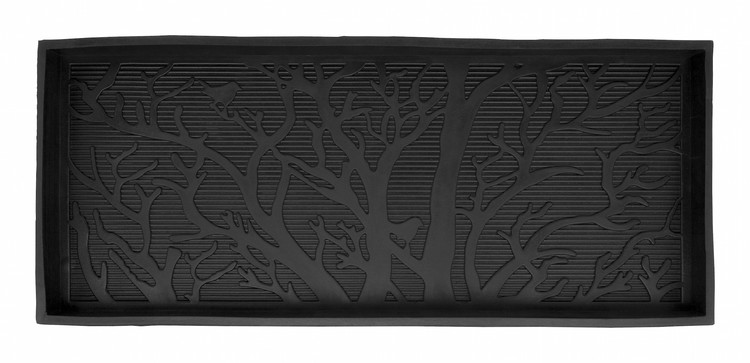 "Stövelställ ""Tree"" med kant, naturgummi, 85x36 cm, Dixie"