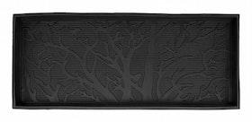 """Dörrmatta """"Tree"""" med hög kant, naturgummi, 85 x 36 cm, Dixie"""