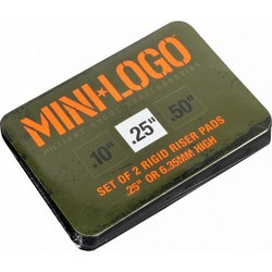 Mini Logo Rigid Riserpads Black .50