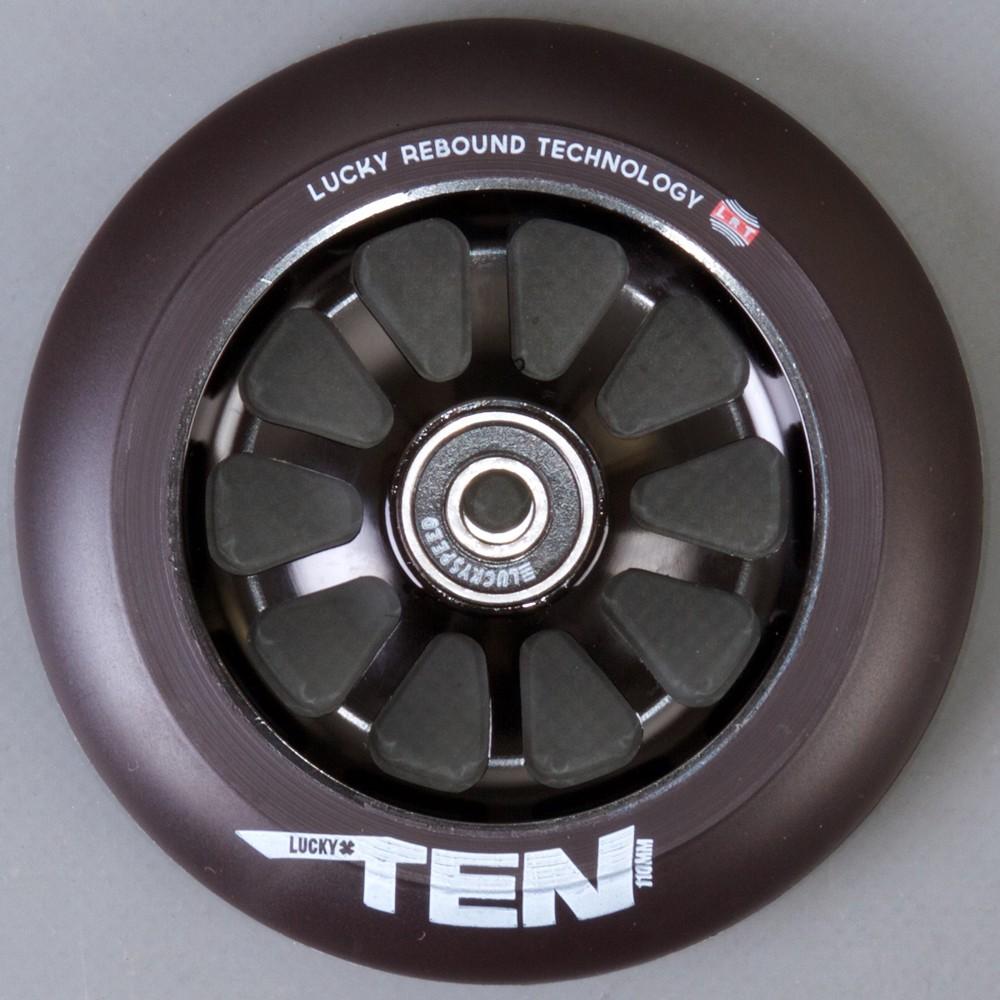 Lucky Ten 110mm svart 2-pack Sparkcykel Hjul