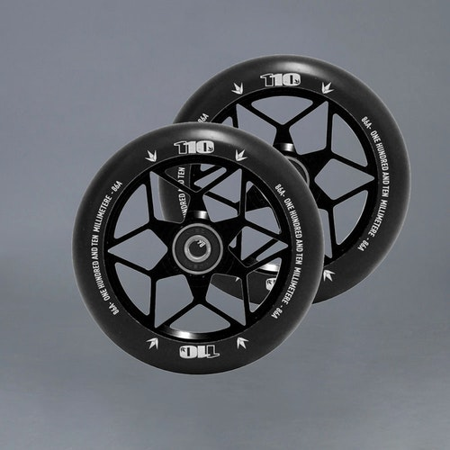 Blunt Diamond 110mm 2-pack Black Kickbike hjul