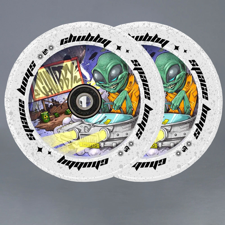 Chubby Spaceboys Alien 110mm Sparkcykel Hjul 2-pack