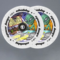 Chubby Spaceboys Alien 110mm Sparkcykel Hjul 2-pack
