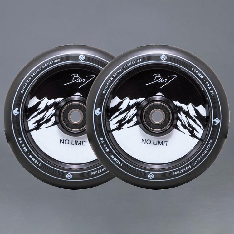 Striker Benj No Limit Black/Black Sparkcykel hjul 2-Pack