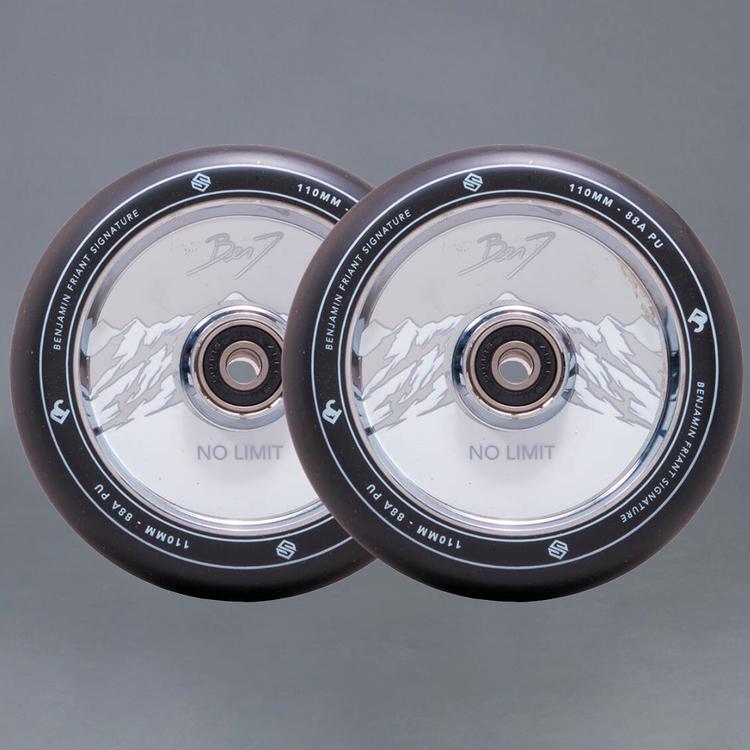 Striker Benj No Limit Black/Chrome Sparkcykel hjul 2-Pack
