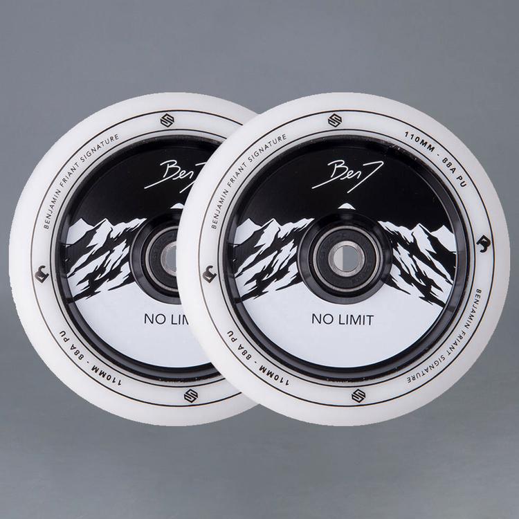 Striker Benj No Limit White / Black Sparkcykel hjul 2-Pack
