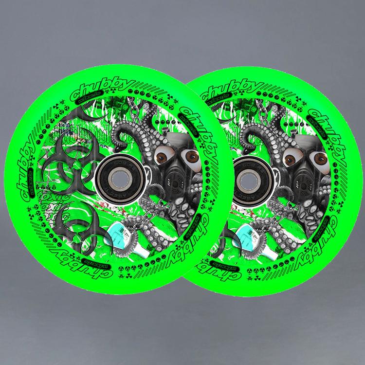 Chubby Lab Pro 110mm Green Sparkcykel Hjul 2-pack