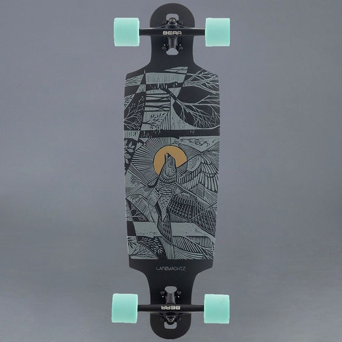 "Landyachtz Drop Cat Seeker Black 33"" Komplett Longboard"