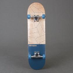 """Retro S Woven Navy Skateboard 7.8"""" Komplett"""