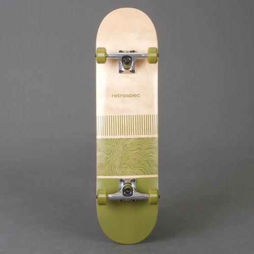 "Retro S Topo Olive Skateboard 8.0"" Komplett"