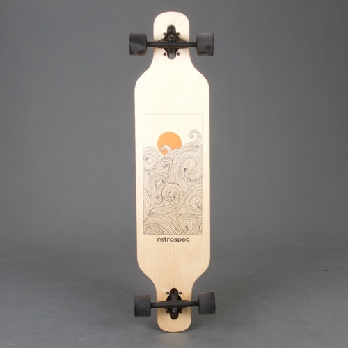Retro S Drop-Through Tangerine Wave Longboard Komplett