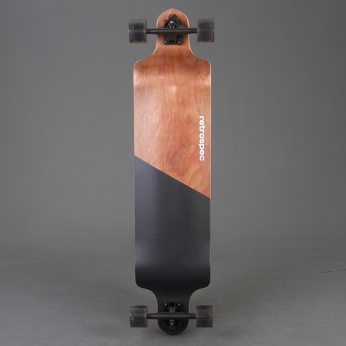 Retro S Drop Black Edge Longboard Komplett