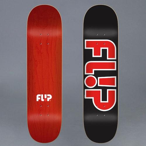 Flip Team Outlined Black 8.5 Skateboard Deck