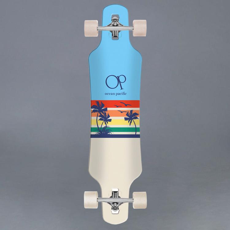 """Ocean Pacific Sunset Blue 39"""" Komplett Longboard"""
