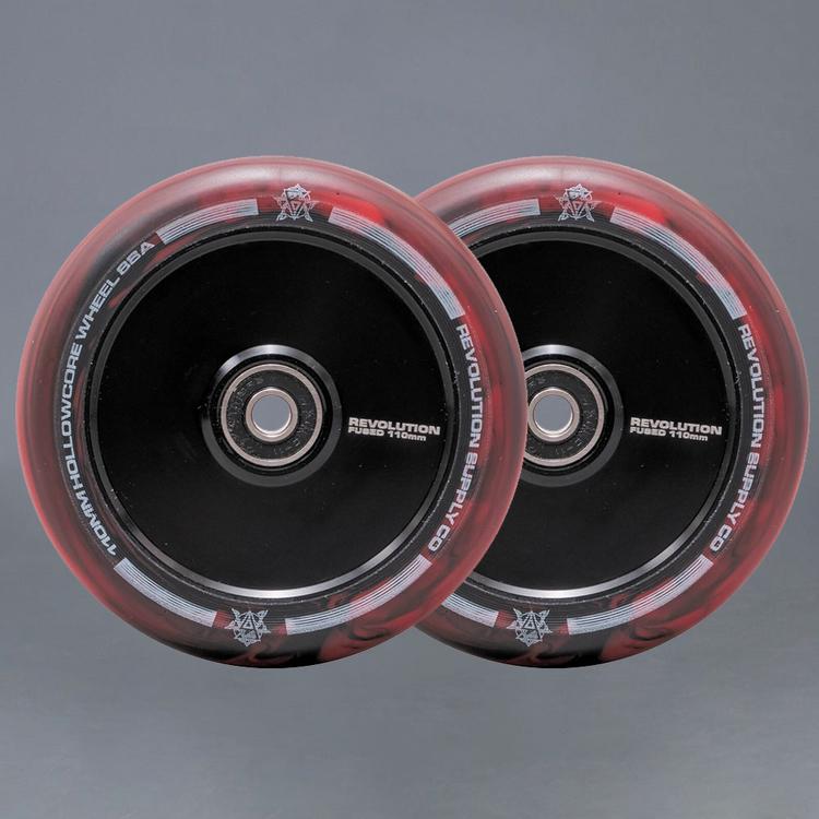 Revolution Hollowcore 110mm Red / Black Sparkcykel Hjul 2-pack