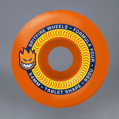 Spitfire FF Neon Orange 54mm 99A Skateboard Hjul