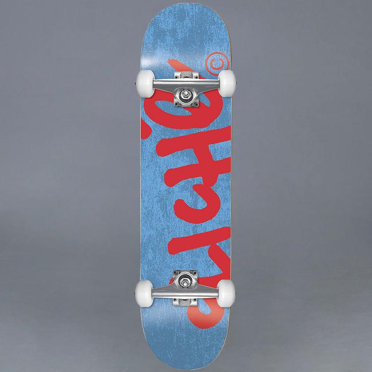 Cliche Handwritten Blue/Red 7.375 Komplett Skateboard