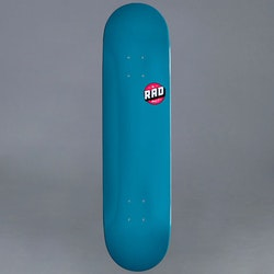 Rad Logo Teal Skateboard Deck 8.0