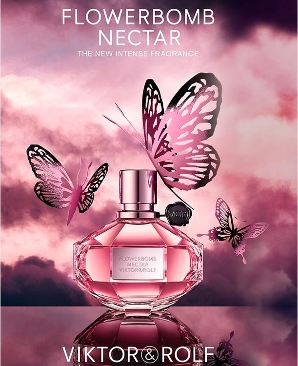 Afbeeldingsresultaat voor Viktor & Rolf Flowerbomb nectar banner