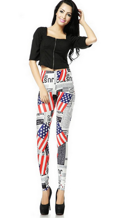 Form flagga graffiti leggings