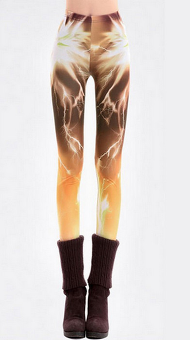 Aurora bruna gula Galax Leggings