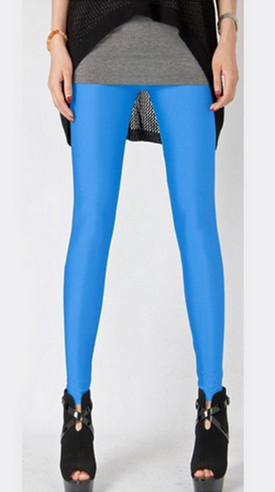 Turkos mode celebrity Metallic Shiny Leggings