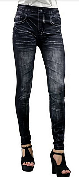 Mode stil sportig svarta jeggings leggings