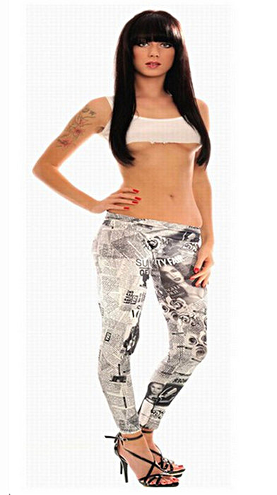 Graffiti vita tattoo leggings