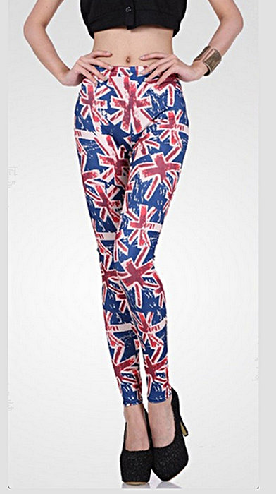 Röda blåa brittisk flagga leggings