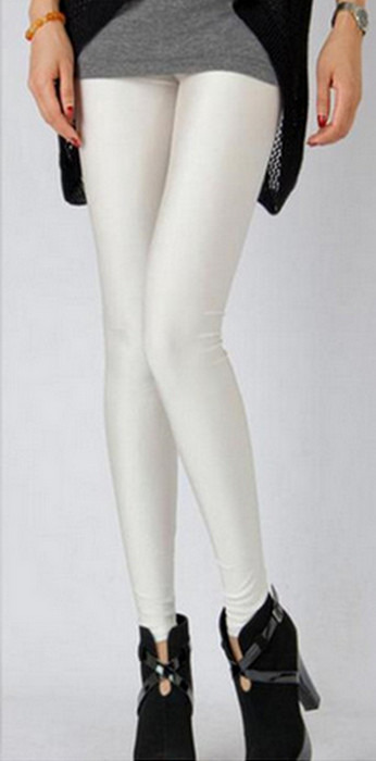 Personlighet stil blank vita leggings