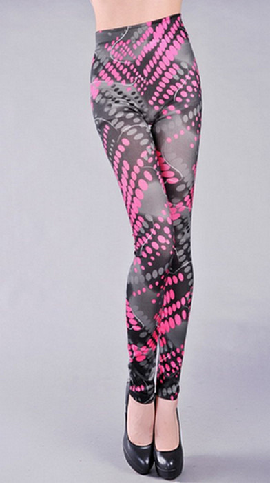 Svarta rosa Graffiti Tattoo Leggings