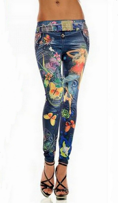 Blåa lagun tattoo printing leggings