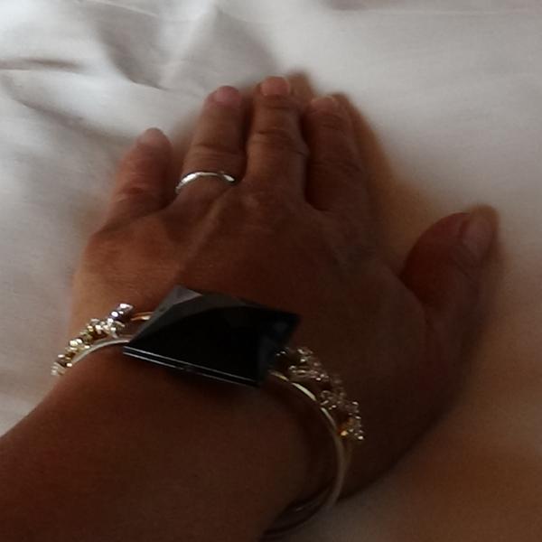 Svarta diamant design zirconia stenar armband