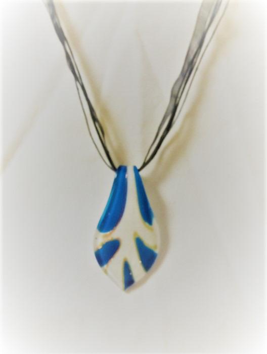 Lampwork Glas Ljusblåa Vatten Halsband