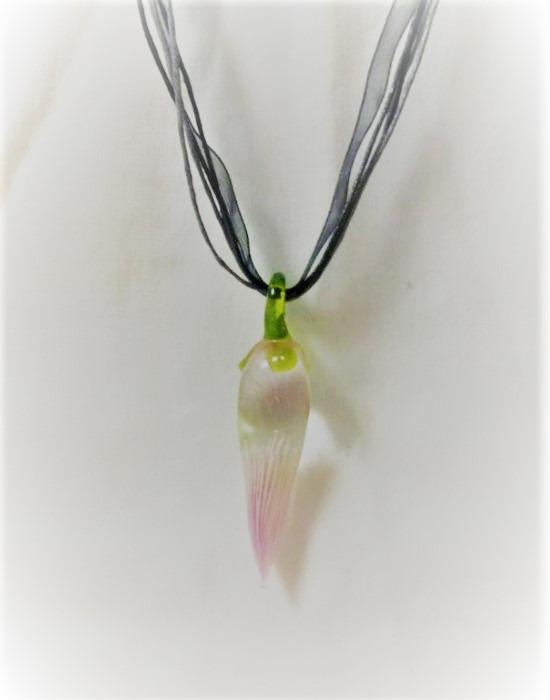 Lampwork Glass Lila Chilipeppar Halsband