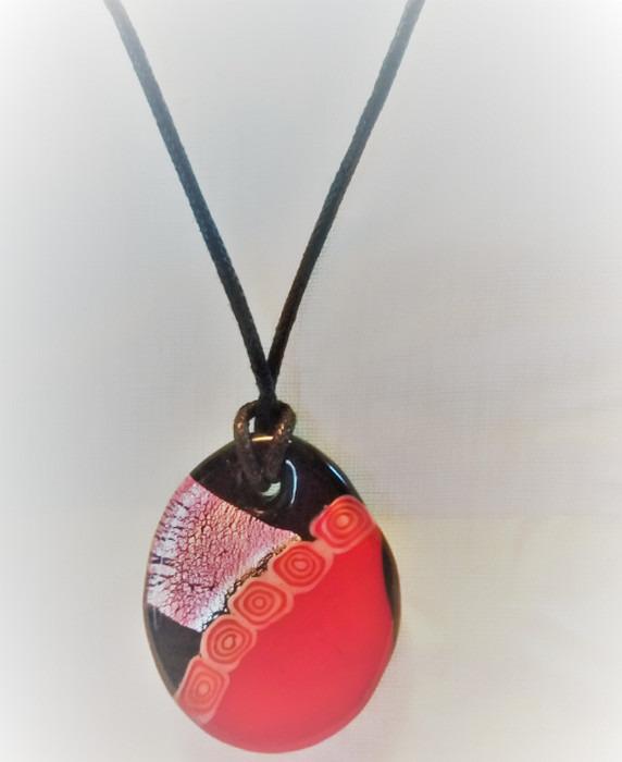 Lampwork Glas Egyptisk Scarabee Tur Halsband